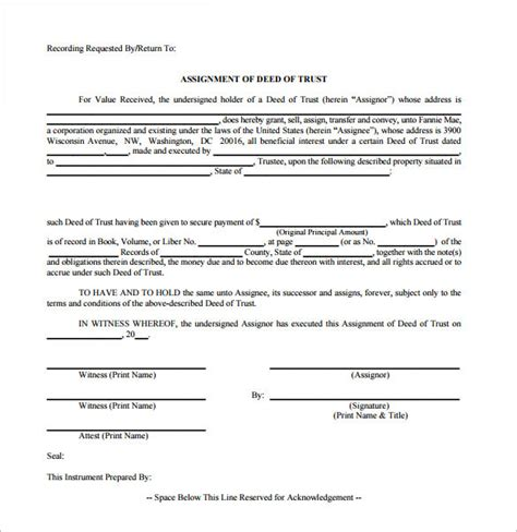 trust deed template uk sle deed of trust form 9 documents in pdf word