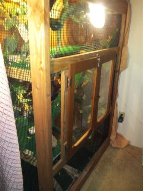 custom multi story reptile cage   design wood