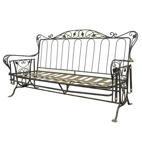 outdoor glider sofa vintage wrought iron outdoor patio glider swing sofa