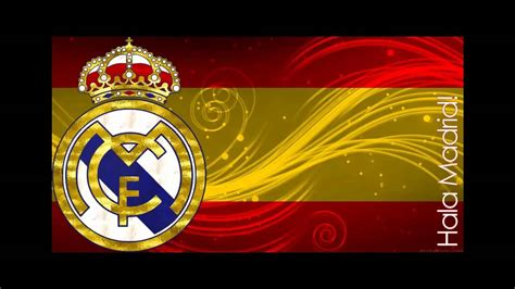 real madrid song cancion hala madrid santaflow youtube