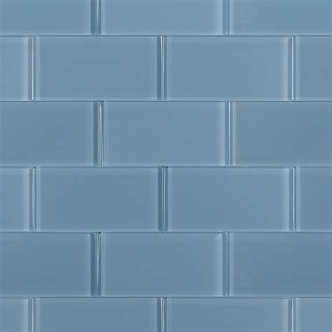 glass tiles loft blue gray polished 3x6 glass tile