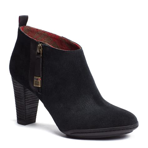 hilfiger boots hilfiger ankle boots in black lyst
