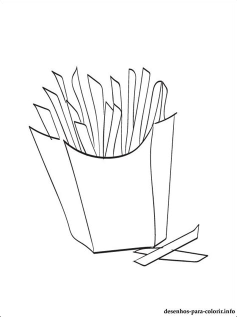 coloring french fries coloring pages