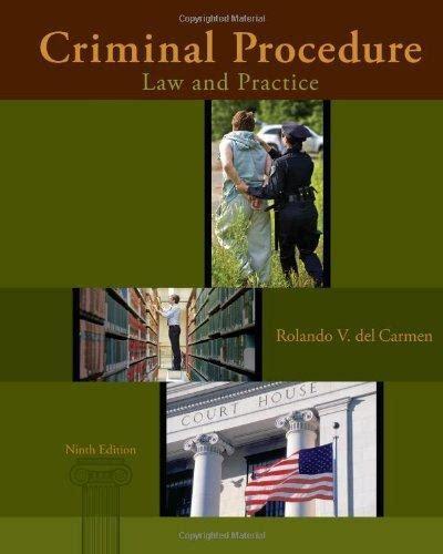 9781285062891 criminal procedure and practice