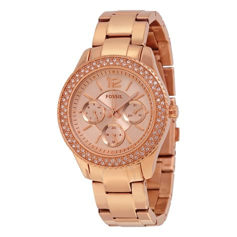 Fossil Kulit Rosegold fossil stella gold tone stainless steel es3590 stella fossil