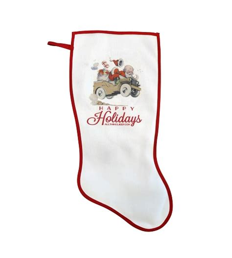 jeep christmas stocking all things jeep exclusive quot happy holidays quot stocking