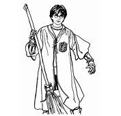 Harry Potter Broom Coloring Page &amp Book