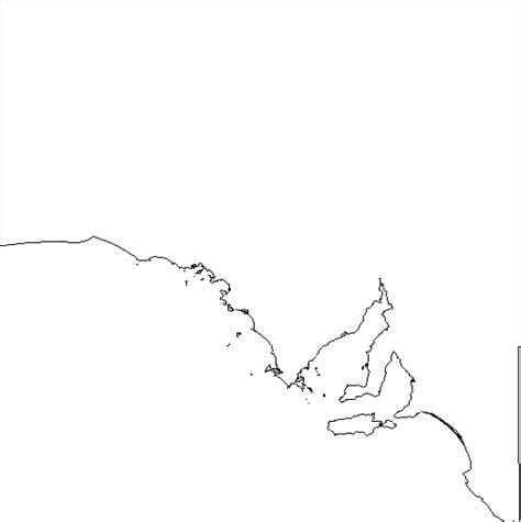Blank Outline Map South Australia by Index Of Maps Blank