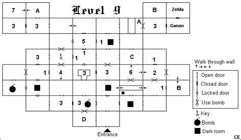 legend of zelda map dungeon 9 zelda nes maps