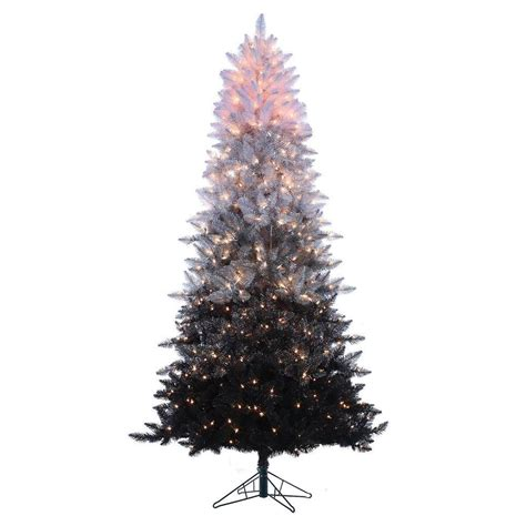 sterling 7 5 ft pre lit black ombre spruce artificial
