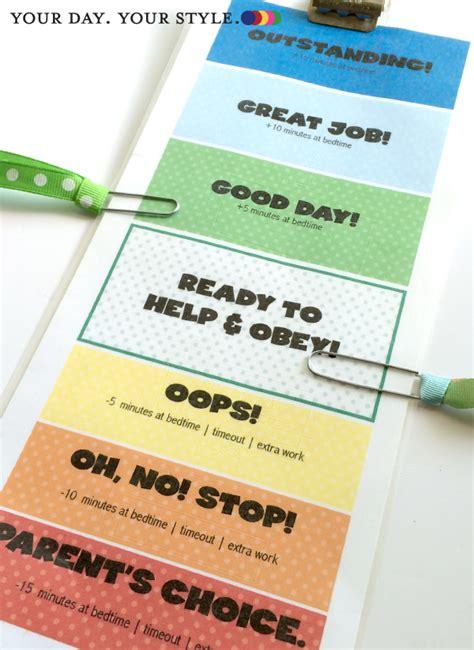 free printable children s behavior clip chart for home
