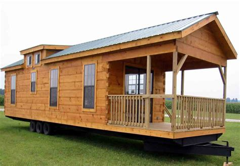 log cabin style trailer homes house design ideas