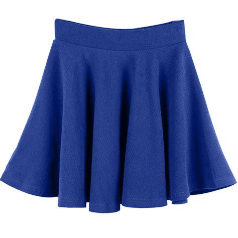 s stretch high waist skirt plain skater flared