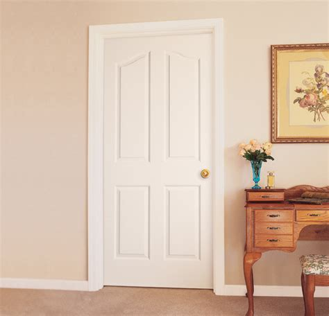 Interior Bathroom Doors by 4 Panel Arch Top Interior Door Traditional Bathroom