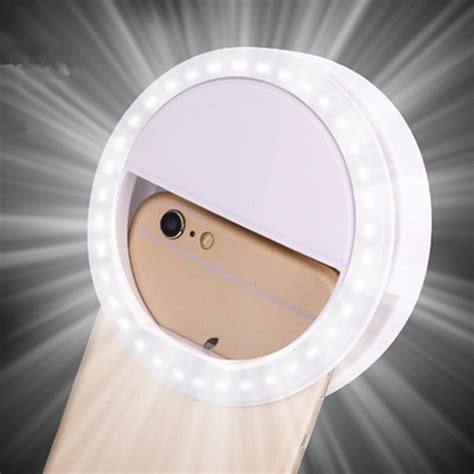 Led Ring Light Selfie portable white selfie fill light led flash ring lighting