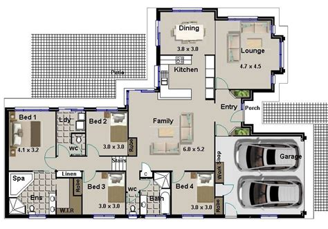 simple house plan with 4 bedrooms awesome free 4 bedroom house plans and designs new home plans design