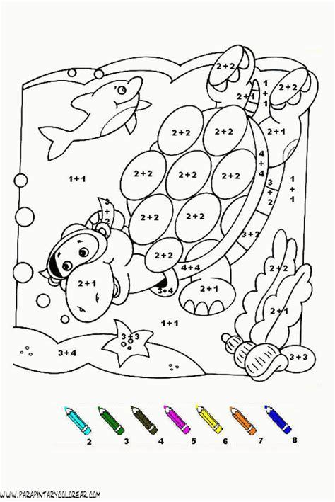 dibujos para colorear sumasyrestas colorea por sumas y n colorear con sumas 026