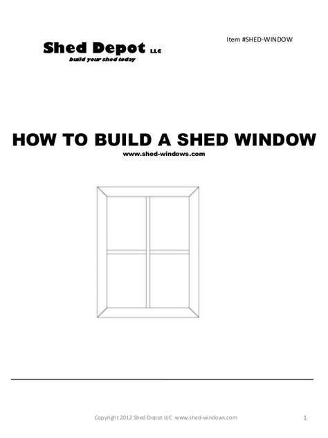 build shed windows