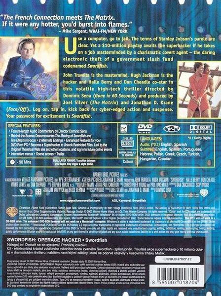 film operace hacker dvd film swordfish operace hacker j travolta h