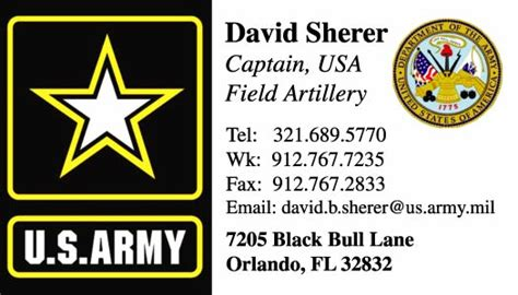 army business cards templates us army business cards templates gallery card design and