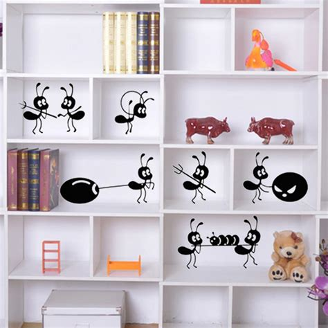 window stickers for house new diy cartoon ant wall stickers decoration ant moving house stickers window stickers