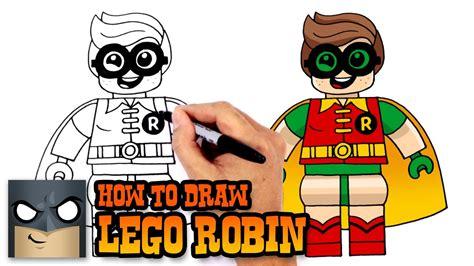 Lego Robin 3 how to draw lego robin lego batman