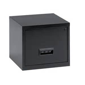 One Drawer File Cabinet Henry Steel Cube Filing Cabinet 1 Drawer A4 Black