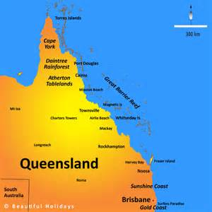 map world brisbane queensland map showing attractions accommodation