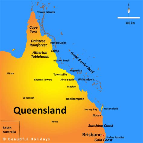 queensland australia map queensland map showing attractions accommodation