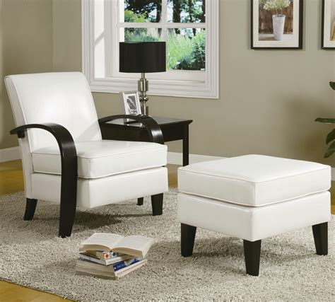White Accent Chair With Ottoman Bentwood White Leather Accent Chair With Storage Ottoman By Coaster 900243
