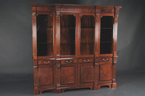 Mahogany China Cabinet by Regency Style Mahogany Four Door China Cabinet Ebay