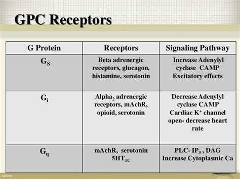 g protein coupled receptors c g protein coupled receptors and their signaling mechanism