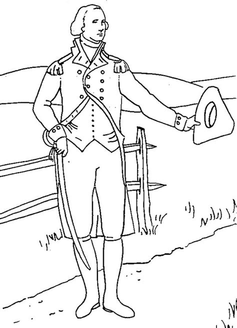 washington coloring pages george washington coloring pages for kids coloring home