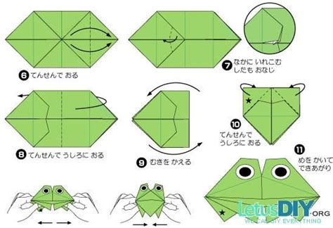 Frog Paper Folding - how to make origami frog diy paper folding big