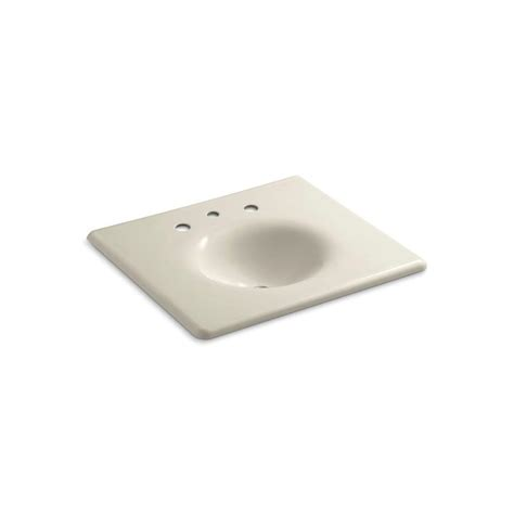 almond bathroom sink kohler 22 25 in iron impressions vanity top bathroom sink