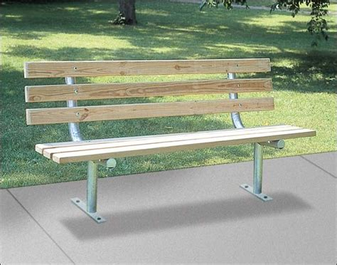 modern park benches surface mount park bench with back contemporary