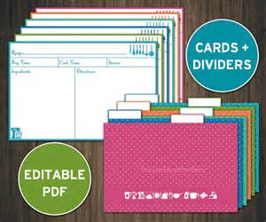 recipe card template 4x6 editable recipe cards divider 4x6 recipe cards printable