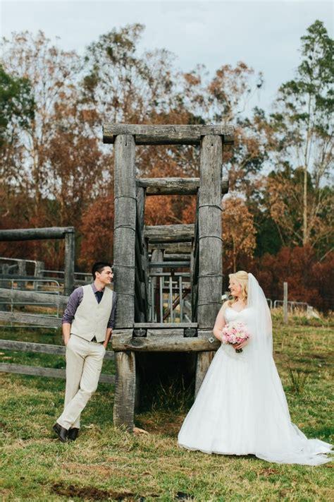 diy rustic country qld wedding polka dot