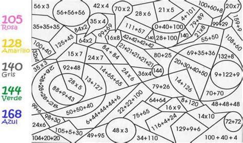 imagenes para colorear tablas de multiplicar dibujos de multiplicacion para colorear imagui