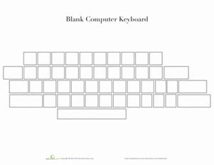 Blank Computer Keyboard Worksheet Education Com Computer Labels Template