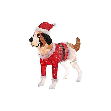 pre lit tinsel dog puppy dogs lighted yard displays wikii