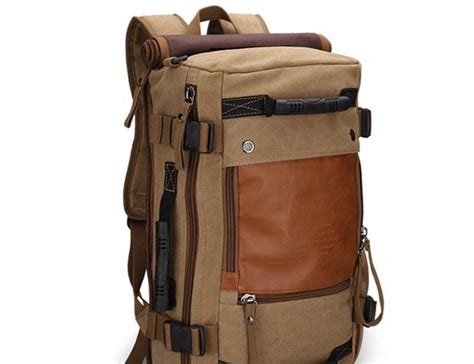 Travel Backpack ibagbar canvas travel backpack 187 gadget flow