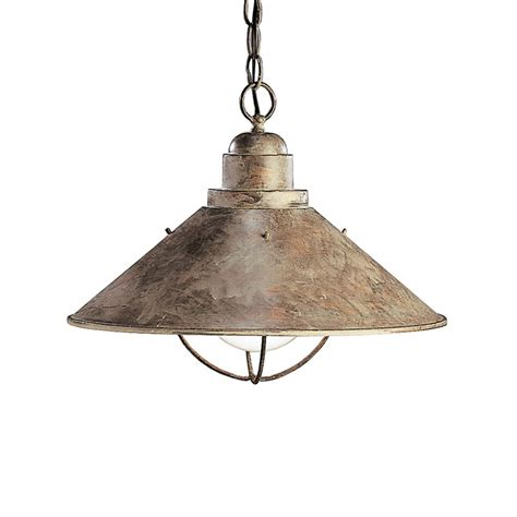 kichler lighting 2713ob seaside transitional pendant light