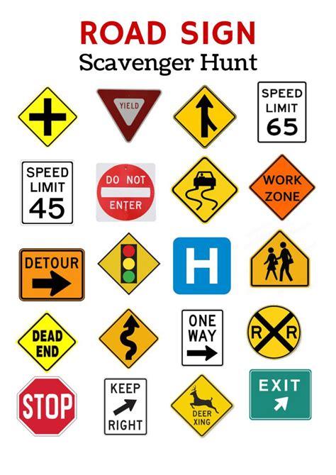 printable australian road signs free printable travel games for kids
