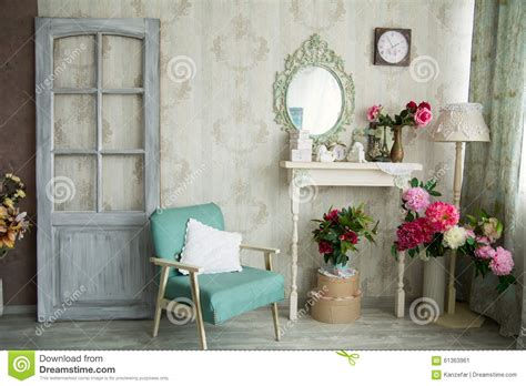vintage house interior vintage country house interior with mirror and a table with a va stock image image