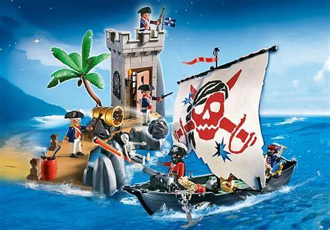 Playmobil 5919 Set Bataille Bateau Pirate Et Tour De Guet