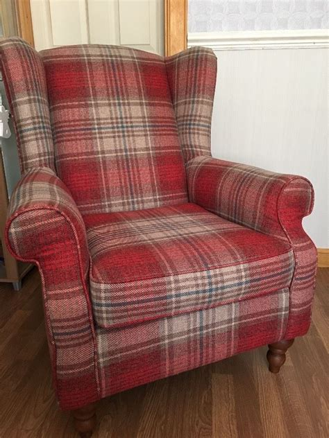 tartan armchairs arm chair next high back tartan chair in inverness