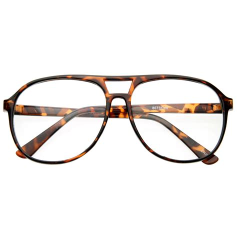 cool trendy thin frame large retro pops mens clear lens