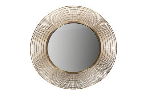 Miroir En Metal by Miroir Rond En M 233 Tal Dor 233 Gold