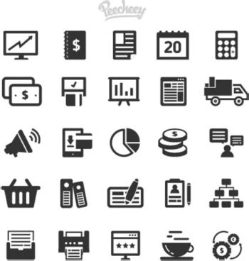 Office And Business Vector Icons Set On Gray Royalty Free Stock Images Image 33973149 Office Icons Free Vector 100 158 Free Vector For Commercial Use Format Ai Eps Cdr